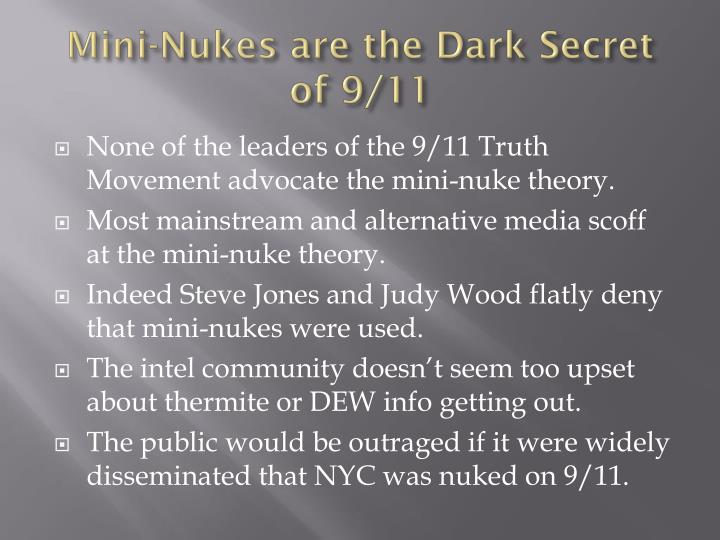 Mini-Nukes are the Dark Secret of 9/11