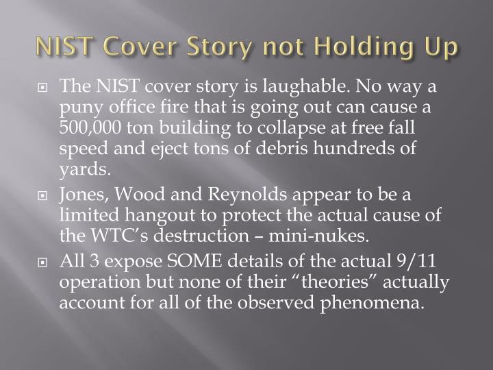 NIST Cover Story not Holding Up