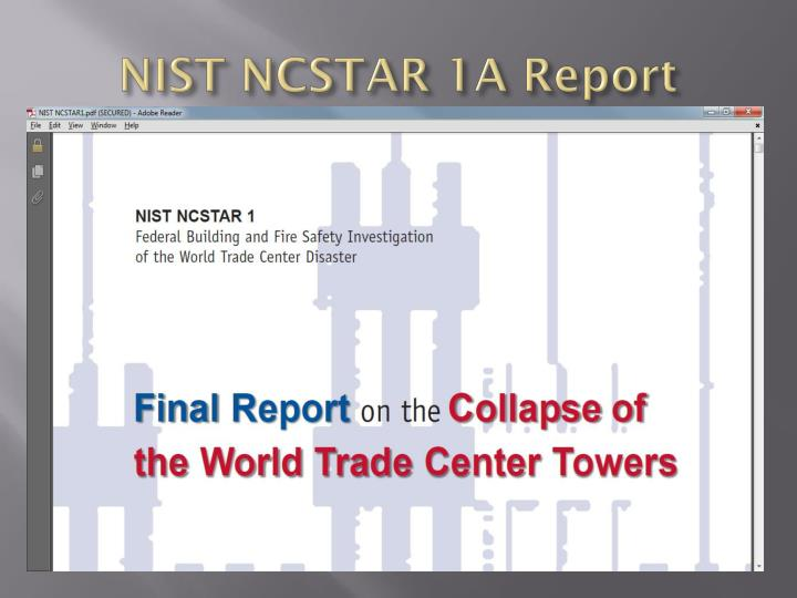 NIST NCSTAR 1A Report