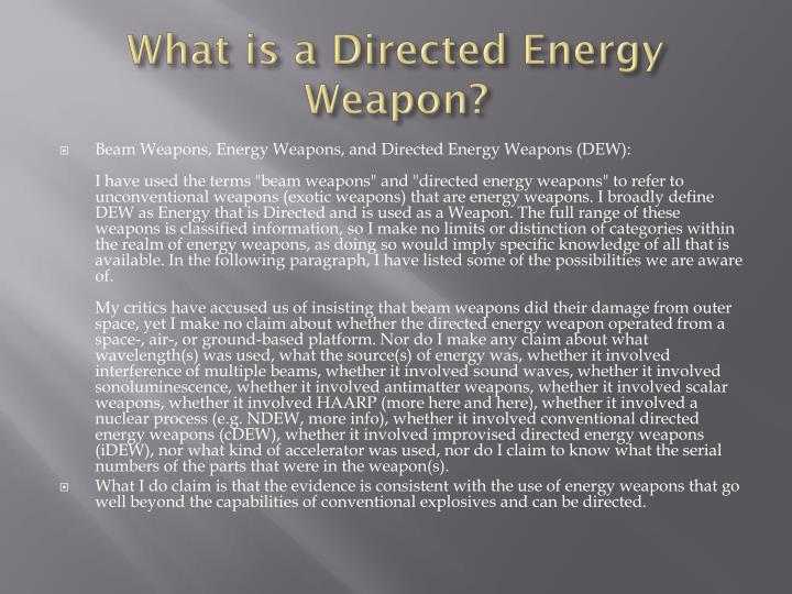 What is a Directed Energy Weapon?