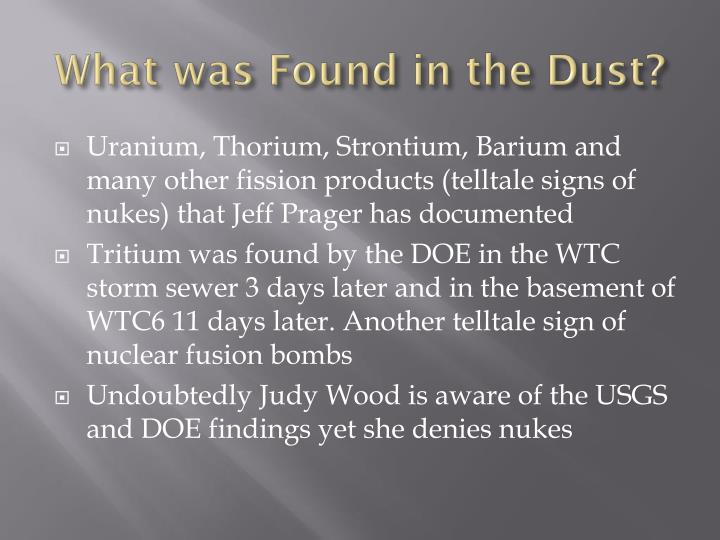 What was Found in the Dust?