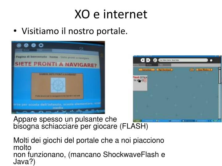XO e internet