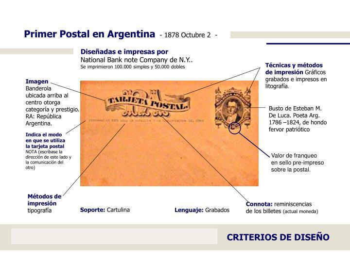 Primer Postal en Argentina