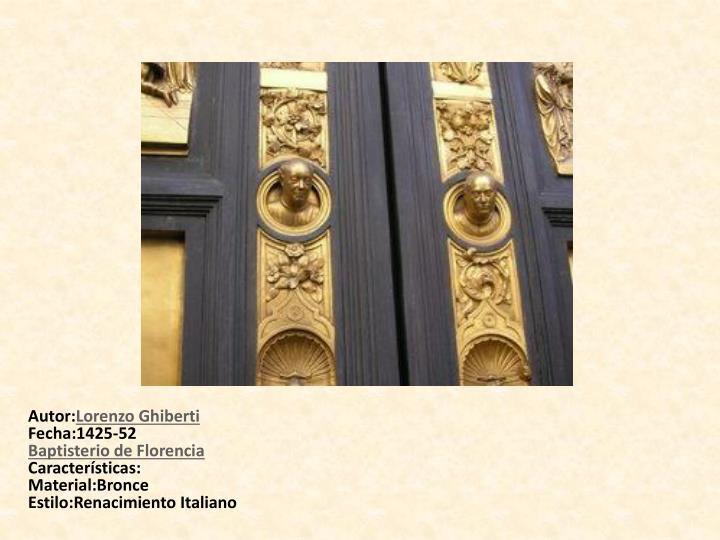 Baptisterio de Florencia. Puertas del Paraíso