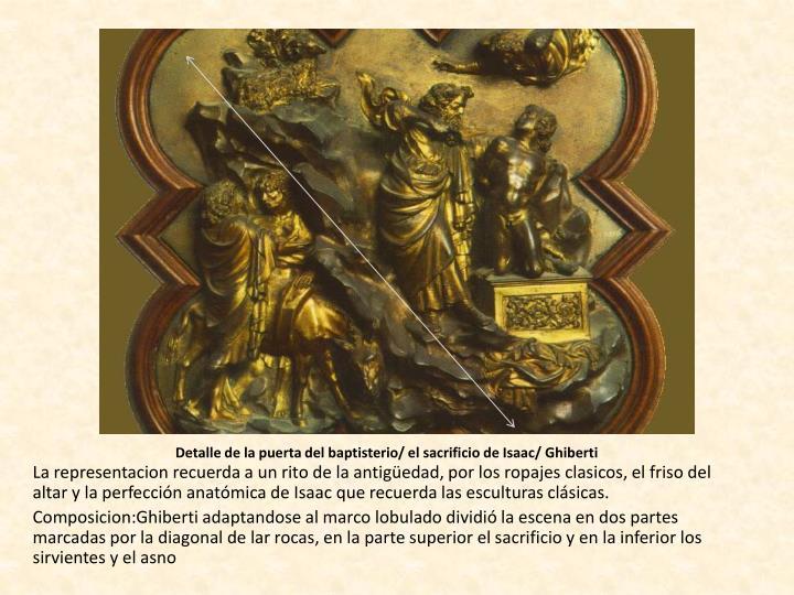 Detalle de la puerta del baptisterio/ el sacrificio de Isaac/