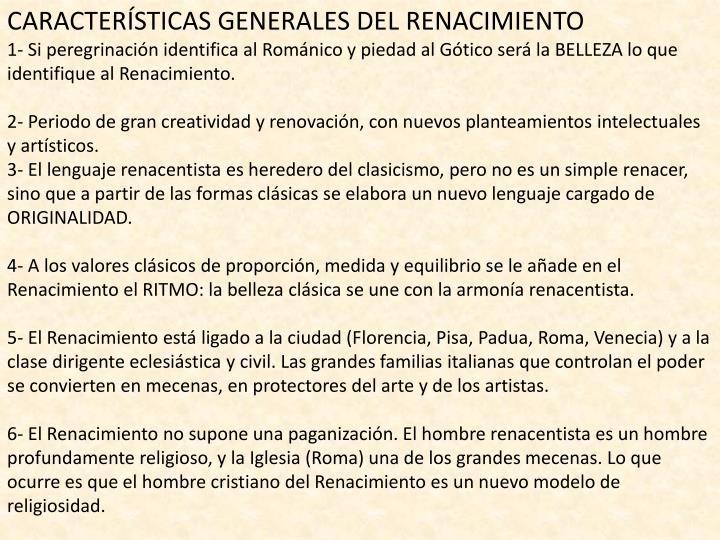CARACTERÍSTICAS GENERALES DEL