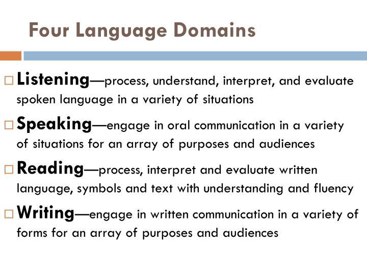 Four Language Domains