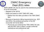 cmac emergency dept ed rates