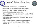 cmac rates overview
