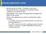 royalty agreements contd1