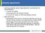 royalty agreements