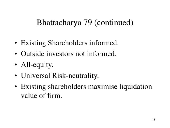 Bhattacharya 79 (continued)