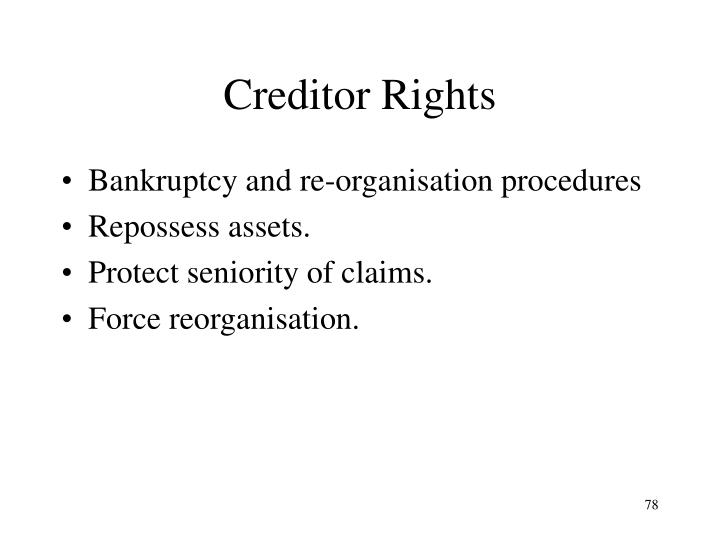 Creditor Rights
