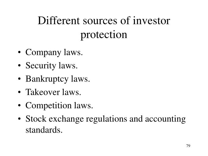 Different sources of investor protection
