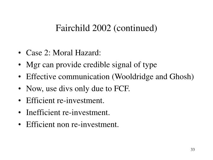 Fairchild 2002 (continued)