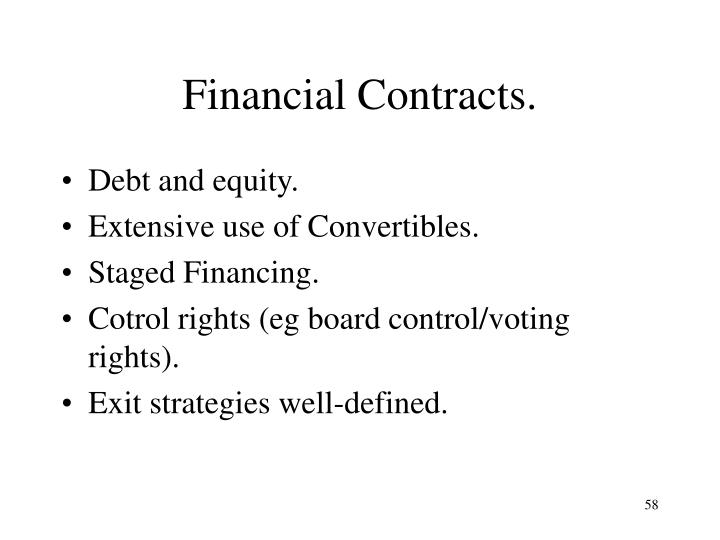 Financial Contracts.