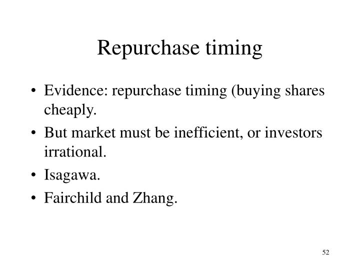 Repurchase timing