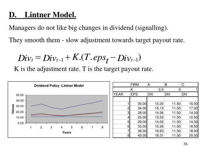 D.    Lintner Model.