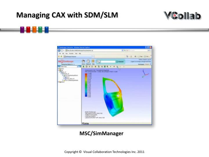 Managing CAX with SDM/SLM