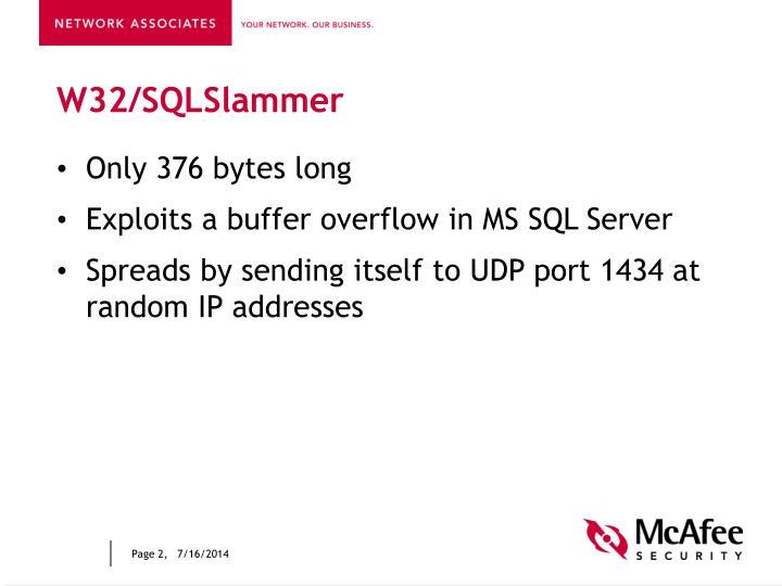 W32/SQLSlammer