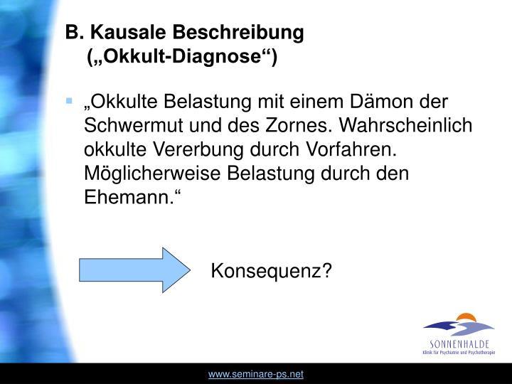 B. Kausale Beschreibung