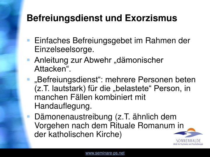 Befreiungsdienst und Exorzismus