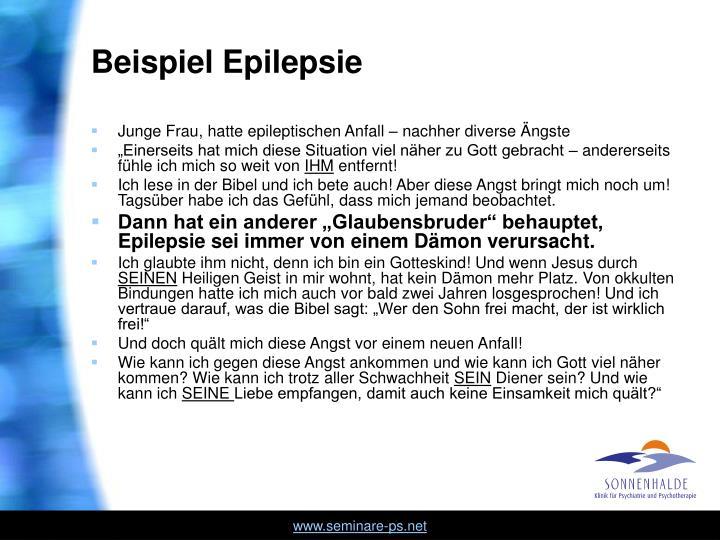 Beispiel Epilepsie