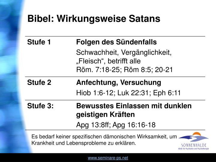 Bibel: Wirkungsweise Satans