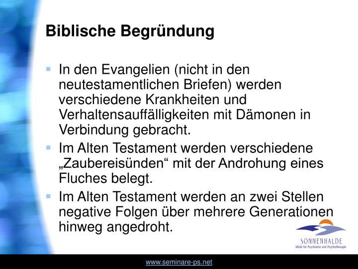 Biblische Begründung