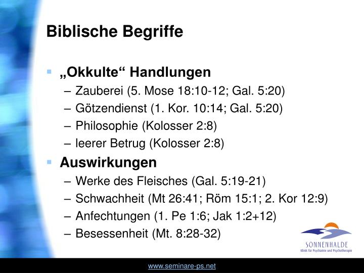 Biblische Begriffe
