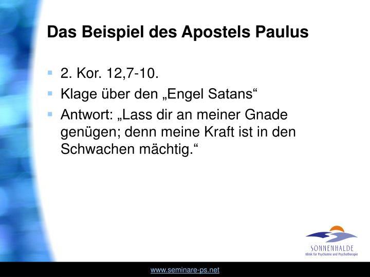 Das Beispiel des Apostels Paulus