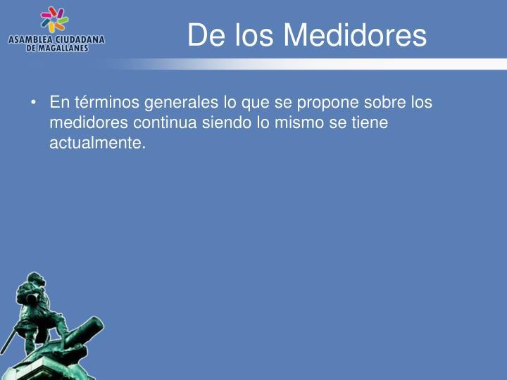De los Medidores
