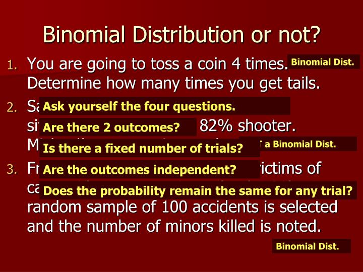 Binomial Distribution or not?