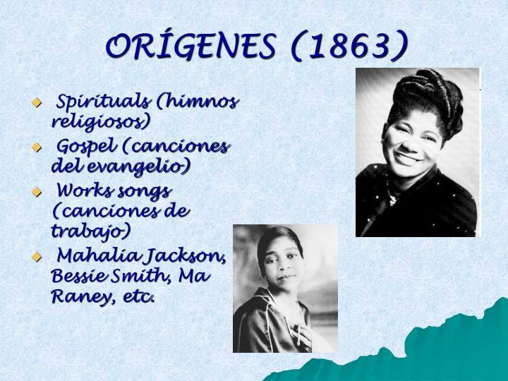 ORÍGENES (1863)