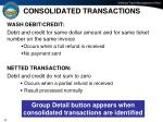 consolidated transactions