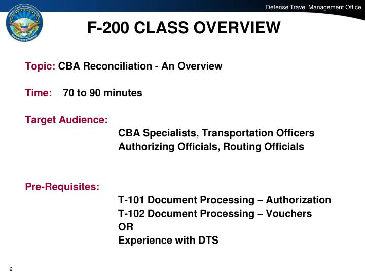 F 200 class overview