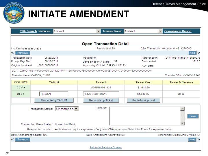 INITIATE AMENDMENT