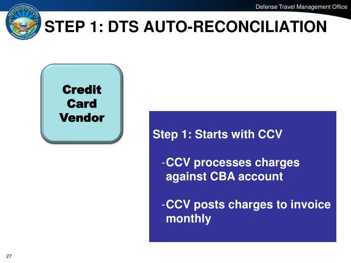 STEP 1: DTS AUTO-RECONCILIATION