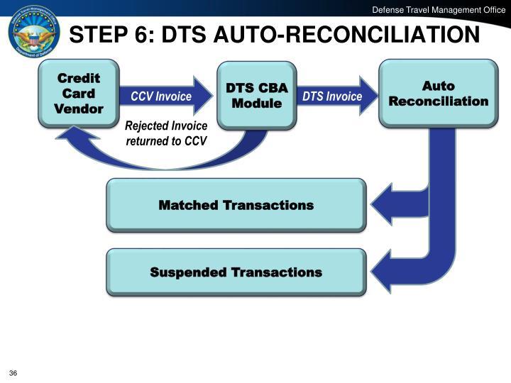 STEP 6: DTS AUTO-RECONCILIATION