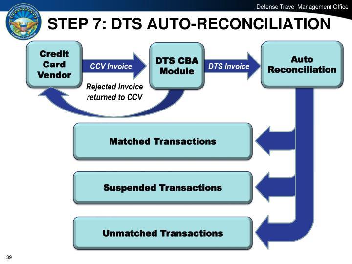 STEP 7: DTS AUTO-RECONCILIATION