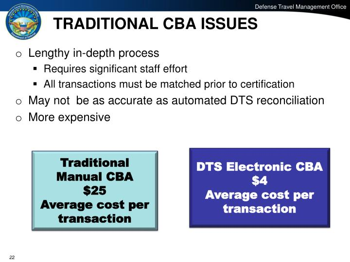 TRADITIONAL CBA ISSUES