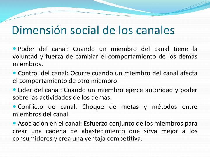Dimensión social de los canales