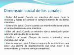 dimensi n social de los canales