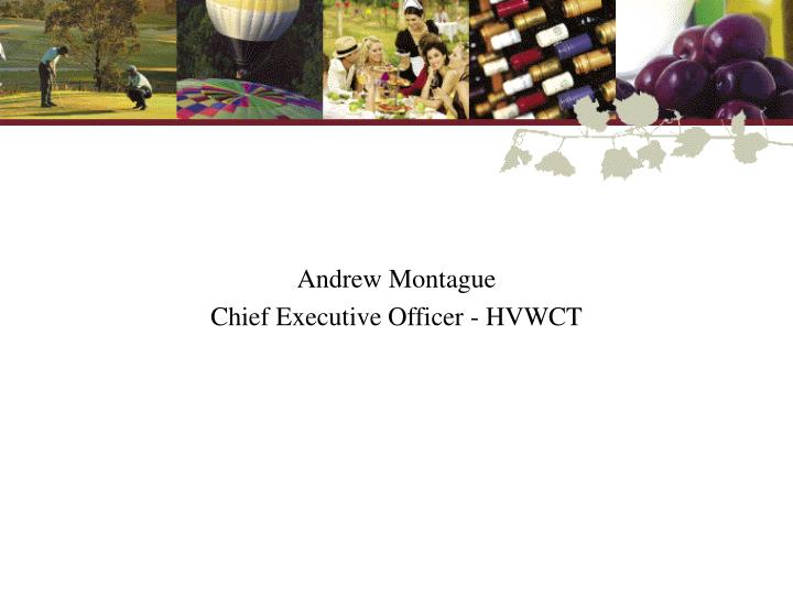 Andrew montague chief executive officer hvwct