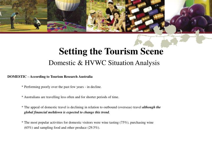 Setting the Tourism Scene