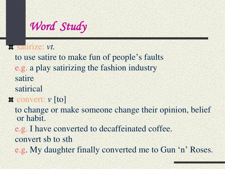 Word  Study