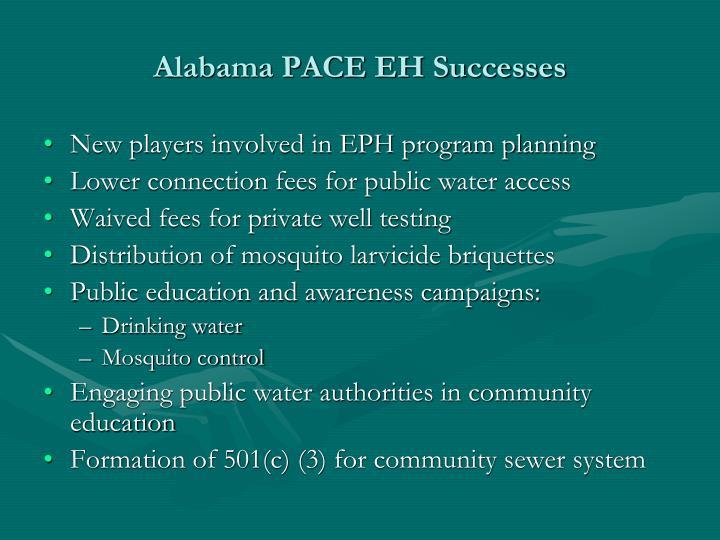 Alabama PACE EH Successes