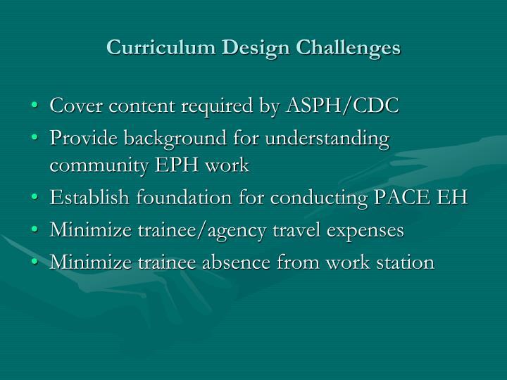 Curriculum Design Challenges