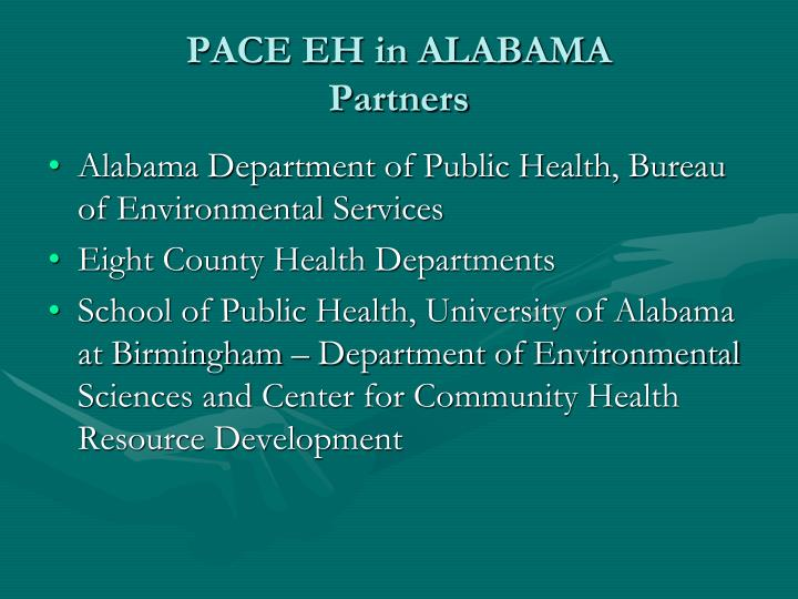 Pace eh in alabama partners