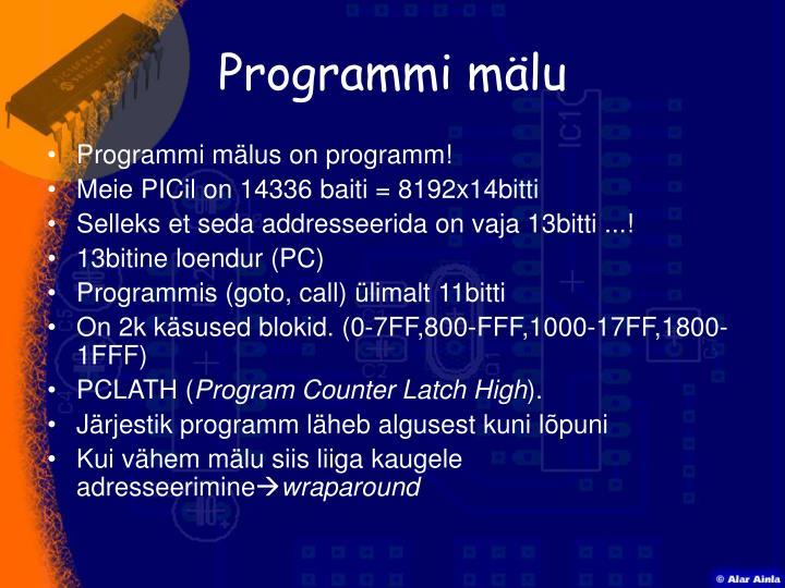 Programmi mälu